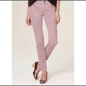 LOFT Curvy Skinny Lavender corduroy jeans